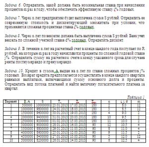 «Основы финансовых вычислений», контрольные работы ВЗФЭИ на заказ